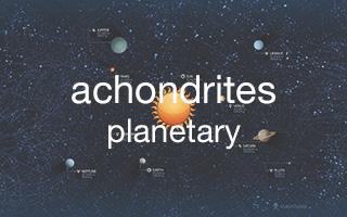 achondrites : Mars - Moon